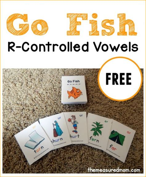 make your own go fish cards r controlled vowels go fish the measured