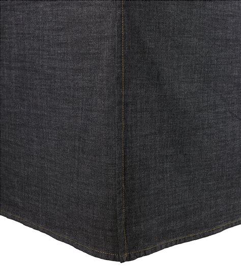 cremieux vintage denim bedskirt dillards