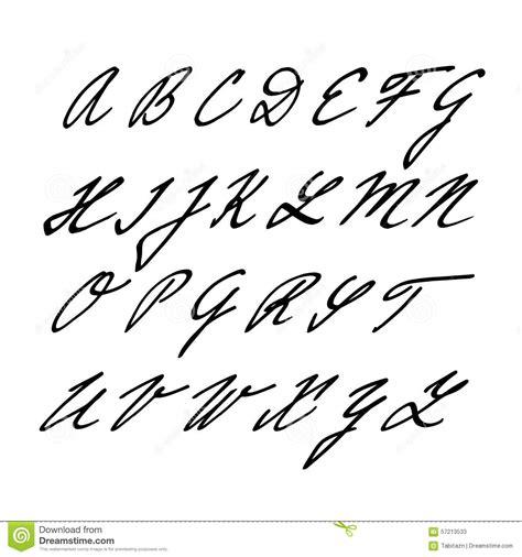 Lettre De Désistement Free Alphabet Font Isolated Letters Initials Stock Vector Image 57213533