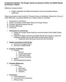 templates for essays comparative essay outline
