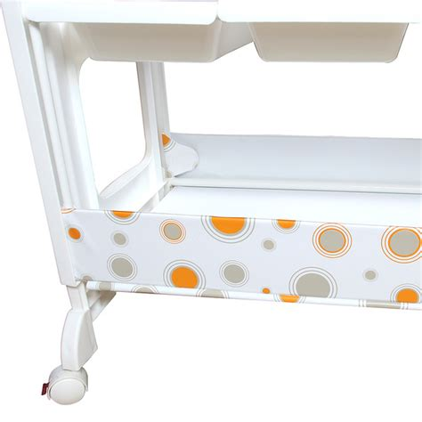 Baby Change And Bath Table With Safety Clipper Comfort Pad Baby Changing Table With Wheels