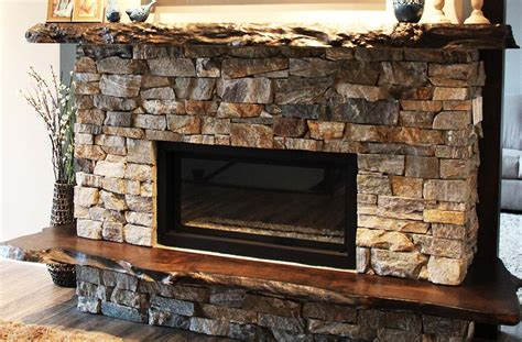 Natural Wood Mantels For Fireplaces Natural Stone Mantel