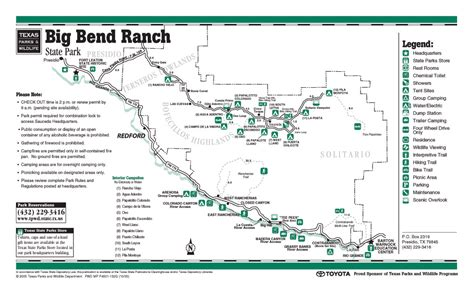 map of big bend texas big bend ranch state park texas