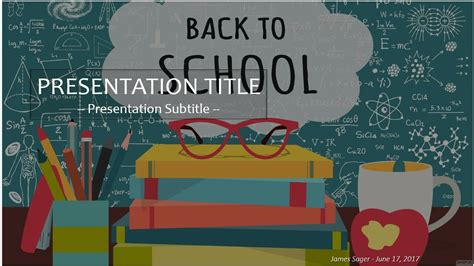 Back To School Powerpoint Template 4168 Free Back To School Powerpoint Template By Sagefox Back To School Powerpoint Template