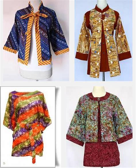 Baju Batik Wanita Gendut model baju batik kerja untuk wanita gemuk ibu guru kantor terbaru