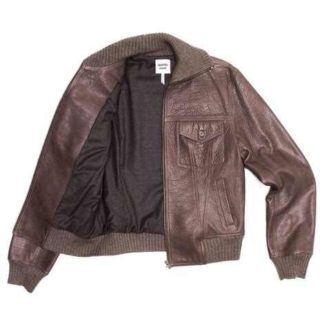 Jaketexpress Boomber Brown Jacket Boomber hermes brown bison bomber style jacket for sale at 1stdibs