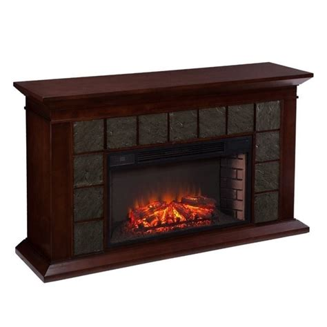 Brown Electric Fireplace by Southern Enterprises Newberg Electric Fireplace In Warm