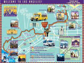 la map with attractions