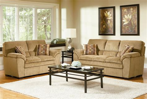 Sofa For Living Room by Corduroy Fabric Casual Living Room 502421 Camel