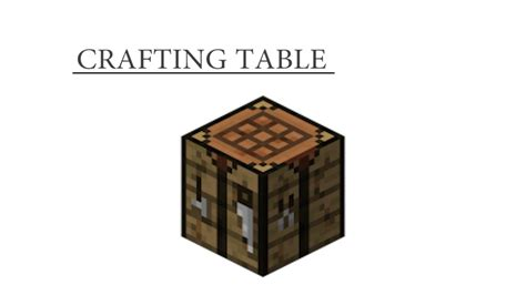 minecraft crafting bench how to craft crafting table minecraft youtube