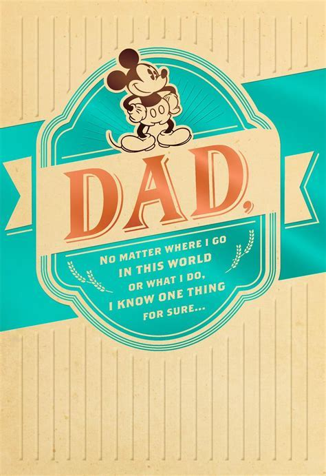 Vintage Mickey Mouse Father's Day Card   Greeting Cards