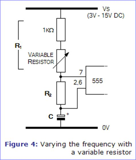 function of resistor variable the 555 astable circuit electronics in meccano