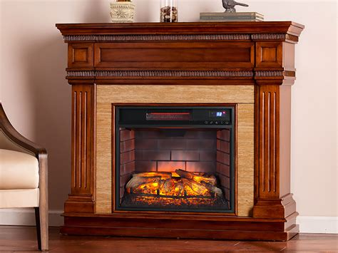 Electric Fireplace Packages by Faircrest Infrared Electric Fireplace Mantel Package In