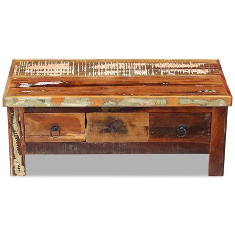 vidaxl co uk vidaxl coffee vidaxl coffee table drawers solid reclaimed wood 90x45x35 cm vidaxl co uk