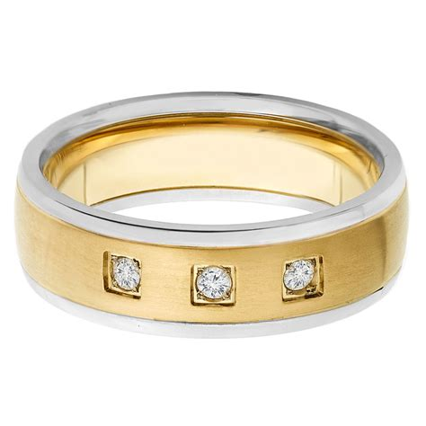 comfort ring sizing gold plated titanium diamond brushed comfort ring size