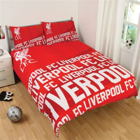 liverpool bedroom stuff liverpool fc impact double duvet cover set red official