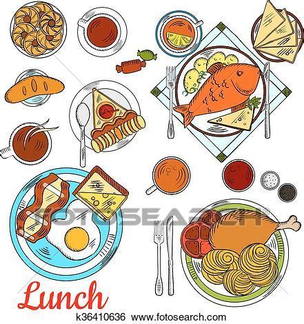clipart pranzo clip pranzo sano icona con principale piatti e