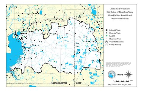map of hazardous waste sites alafia river watershed distribution of hazardous waste