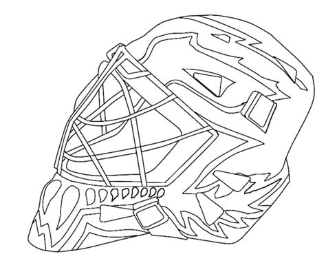 printable goalie mask hockey goalie mask coloring pages murderthestout