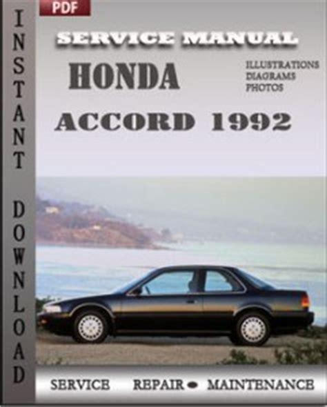 how to download repair manuals 1992 honda accord instrument cluster honda accord 1992 free download pdf repair service manual pdf