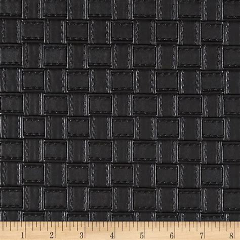 where to buy leather upholstery fabric faux leather basketweave black discount designer fabric