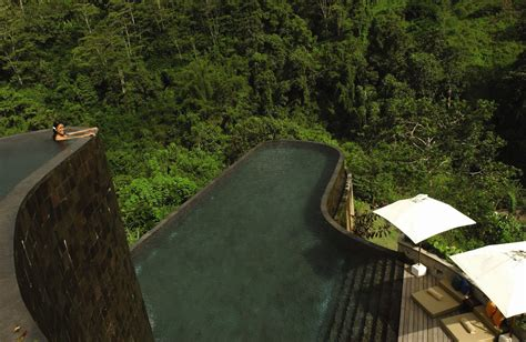 hanging infinity pools in bali hanging infinity pools in bali at ubud hotel resort