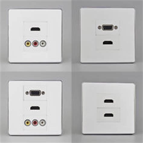 Faceplate Hdmi Vga Rca Av Soket Panel Stop Kontak Outlet hdmi wall socket tv audio accessories ebay