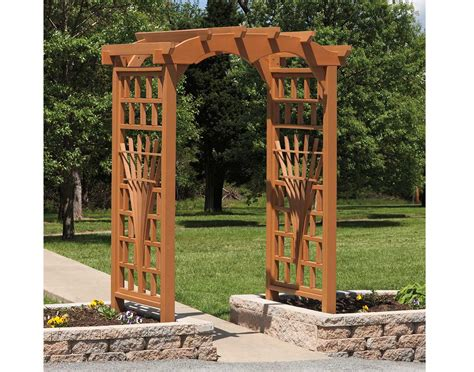 Garden Arbor Plans by Poly Lumber Tivoli Arbor