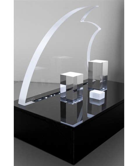 plexiglass illuminato presepe moderno stilizzato in plexiglass trasparente