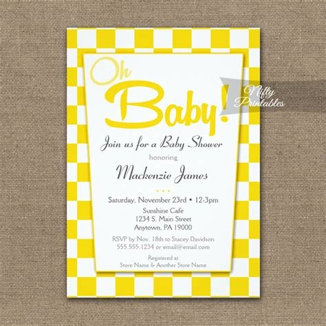 50 s style wedding shower invitations baby shower invitation 50s retro white printed nifty