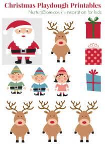 father christmas printables for playdough nurturestore
