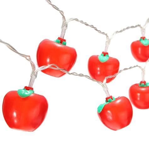 Waterproof 10 Led Battery Apple Shaped Christmas Fairy Apple String Lights