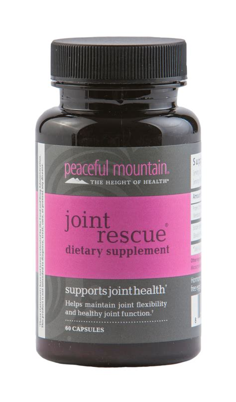 joint comfort dietary supplement joint rescue dietary supplement by peaceful mountain