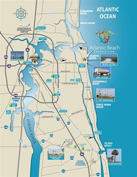map of florida beaches on the atlantic florida map atlantic country club