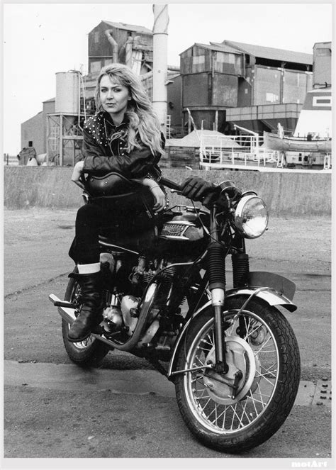 francoise hardy on motorcycle karamelocycles moto girl