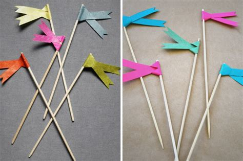 Make Paper Ribbon - the yuppie lifestyle how to make paper ribbon flags