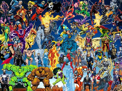 collage of marvel and dc characters hd wallpaper and free wallpapers marvel comics wallpaper hd