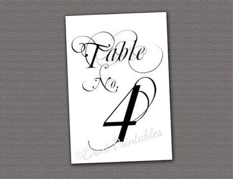 printable number table cards printable table numbers diy wedding table cards digital