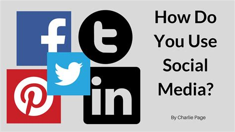 how do you use how do you use social media page