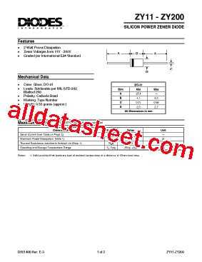 all zener diode datasheet pdf zy24 datasheet pdf diodes incorporated
