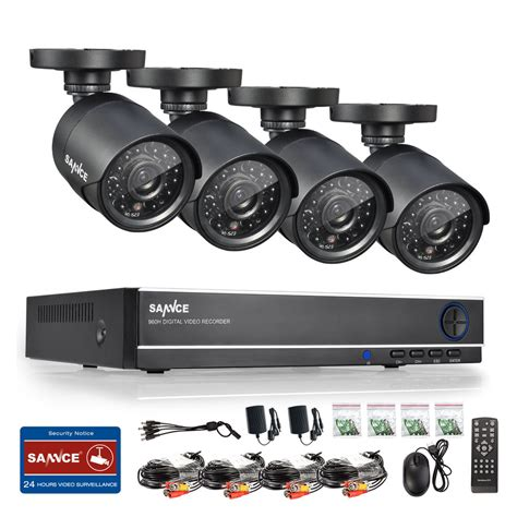 sannce 8ch 1080n hdmi dvr 720p home security system