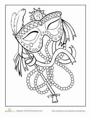 free printable mardi gras coloring pages for kids mardi gras coloring page