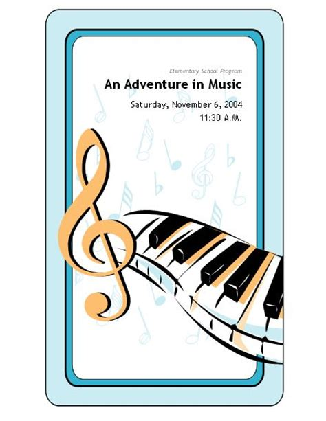 Musical Program Template by School Concert Event Program Templates Education