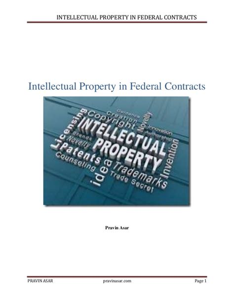contracts for engineers intellectual property standards and ethics books intellectual property in federal contracts