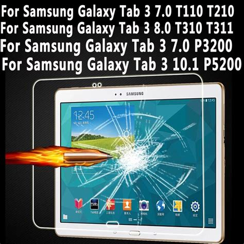 Galaxy Tab 3 7 0 P3200 7 Inch tempered glass for samsung galaxy tab 3 7 0 8 0 10 1 screen protector for samsung galaxy tab 3