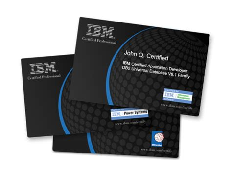 ibm business card template ibm professional certification program news