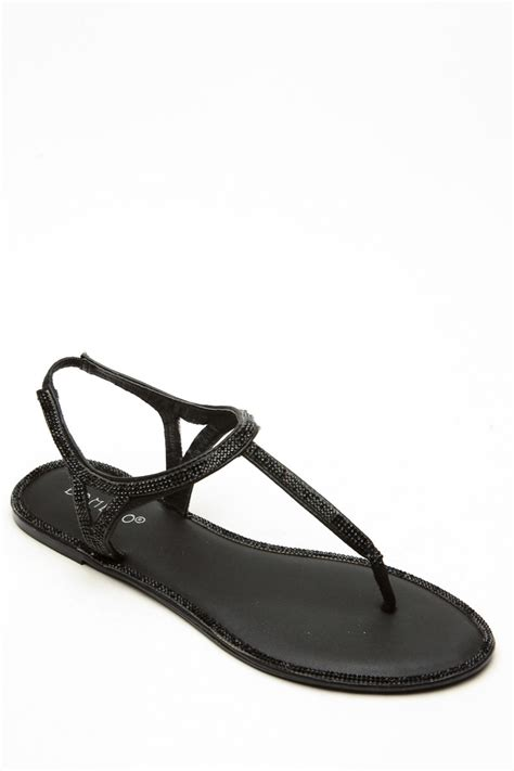 black sandals bamboo rhinstone decour black sandals cicihot sandals