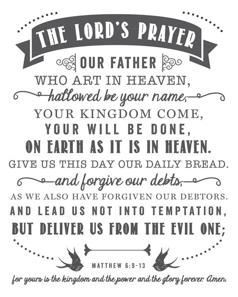 The Lord S Prayer Printable the lord s prayer free printable sincerely d