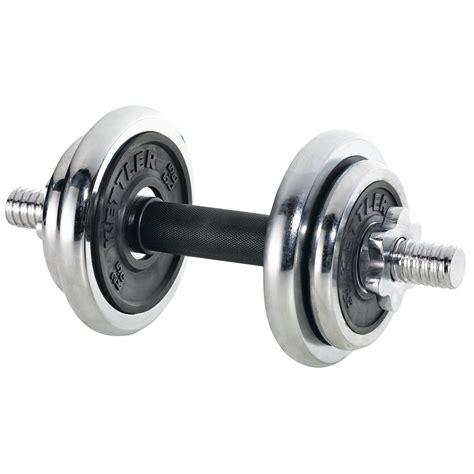 Dumbell Kettler 10 Kg power chrome rubber dumbbell set