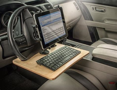 Mobile Office Car Desk Workstations Wheelmate Steering Wheel Table For Easy And Working In The Car